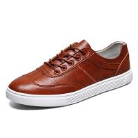 皮鞋男鞋真皮日常休闲鞋男士低帮鞋软底舒适透气四季男单鞋秋季