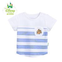 迪士尼Disney夏季童装圆领短袖上衣婴儿纯棉时尚T恤162S762