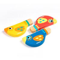 弥鹿(mideer)木质口哨 儿童口哨游戏玩具1/2/3/4岁