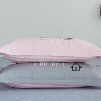 伊迪梦家纺 全棉枕套单品 高支高密纯棉斜纹 环保印染不易褪色 一色两款信封HC345