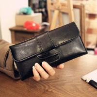 新款长款钱包女包定制长款钱夹欧美女式皮夹送卡包