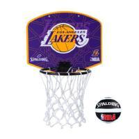 斯伯丁 SPALDING 77-628Y 洛杉矶湖人队徽迷你小篮板 28.7cm*24cm 送mini小球