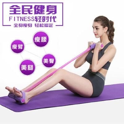 仰卧起坐拉力器健身器材家用运动用品v家用减肚子瘦腰脚蹬拉力绳腿靠墙90度多久能瘦6图片