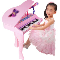 宝宝初学者小钢琴玩具 儿童电子琴带麦克风1-3-6岁5女孩女童