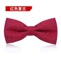 正装英伦韩版蝴蝶结男士领结男伴郎新郎红色复古领结