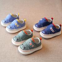 春秋水洗牛仔布儿童机能鞋男宝宝女童学步鞋软底婴儿小童休闲布鞋