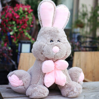 �L耳兔公仔大�美��兔子抱枕毛�q玩具布娃娃睡�X玩偶搞怪萌女生 美��兔