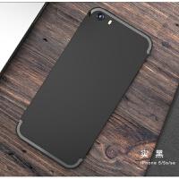 苹果5s手机壳iPhone5磨砂软壳SE硅胶套带指环防摔保护全包潮男es