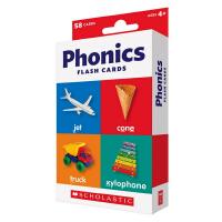 英文原版 Scholastic Flash Cards Phonics 儿童早教自然拼读 字卡卡片闪卡