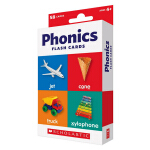 【秒杀价¥9.9】英文原版 Scholastic Flash Cards Phonics 儿童早教自然拼读 字卡卡片闪