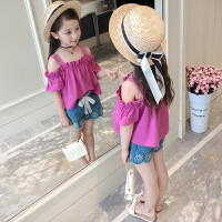 女童夏装新款套装儿童装韩版时髦中大童洋气时尚短袖两件套潮