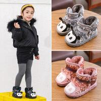 【活动价:69元】2019冬季新款儿童卡通靴子女童雪地靴男童棉鞋加绒宝宝鞋短靴