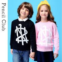 【3折到手价:56.7元】铅笔俱乐部童装2019春装新款儿童毛衣男童女童圆领套头毛衫中大童