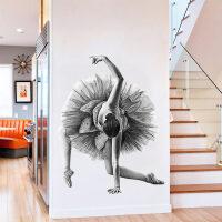 芭蕾舞者贴画舞蹈教室墙贴培训机构布置房间装饰创意墙纸自粘壁纸 芭蕾舞者 特大