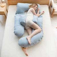 孕妇枕头护腰侧睡枕托腹抱枕多功能u型枕孕妇用品睡觉侧卧枕孕 升级款-