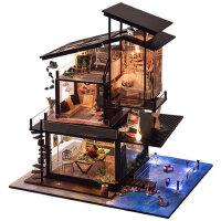 天予diy小屋巴伦西亚海岸 创意手工制作房子模型别墅拼装玩具礼物