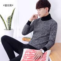 青年男士高领保暖内衣加绒加厚套装青少年学生秋衣秋裤外穿韩版冬