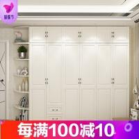 欧式推拉门衣柜简约现代经济型组装省空间柜子卧室简易板式木衣橱