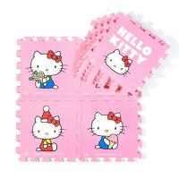 爬行垫拼接防摔卡通红粉儿童婴儿爬爬游戏垫泡沫地垫卡通拼图地垫 粉色 kt猫
