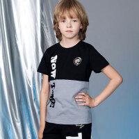 【3件3折 到手价:38.7元】水孩儿(SOUHAIT)夏季新款男童时尚撞色短袖AQAXL557