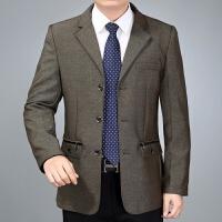 件西装中年人休闲商务男装中老年春秋季薄款爸爸装外套上衣西服