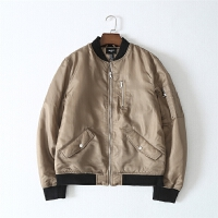 Y47-40 男装 冬季新款纯色立领长袖夹克型棉衣男式休闲