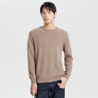 【全场2件2.5折,到手价:112.3】MECITY男装冬季新款羊毛纯色圆领潮流休闲长袖毛衣男