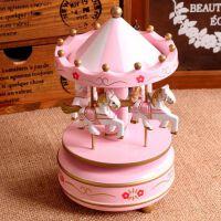 旋转木马音乐盒蛋糕装饰创意女生节生日礼物送小朋友女友闺蜜
