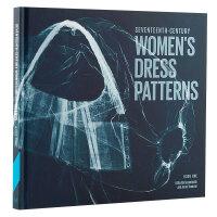 【预订】包邮seventeenth-Century women's dress patterns,17世纪女连衣裙图案