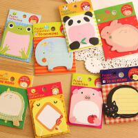 韩国动物卡通小便签5本装 开心可爱zoo卡通创意便签本 便利贴