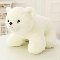 可爱大号北极熊公仔毛绒玩具布娃娃儿童玩偶抱枕生日礼物 W北极熊 白色