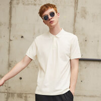 【1件3折到手价:35.7】美特斯邦威白色Polo衫男装韩版潮流夏季新款纯色短袖百搭翻领t恤