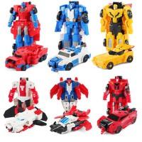 变形玩具金刚合体变形勇士小汽车机器人手动模型套装男孩蒙巴迪