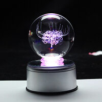彼岸花水晶球摆件 八音盒生日礼物送女生diy定制520情人节礼物