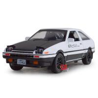 建元1:28丰田AE86合金汽车声光回力玩具头文字D儿童模型车