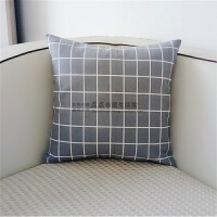 抱枕套不含芯纯棉帆布靠枕套沙发床上床头汽车靠垫靠背腰枕套