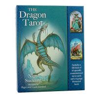 【预订】【特惠包邮】The Dragon Tarot 龙塔罗牌 英文原版心灵 塔罗占卜