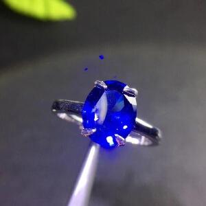 斯里兰卡蓝宝石戒指,皇家蓝,高净度