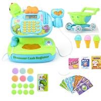 儿童收银机玩具超市过家家套装可扫描刷卡男女孩多功能收银台玩具 配购物车