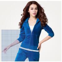 新款套装天鹅绒运动健身套装时尚休闲套装韩版卫衣运动服