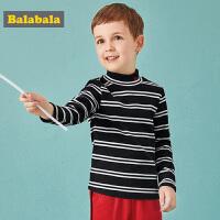 巴拉巴拉宝宝长袖T恤儿童男童童装冬装2018新款宝宝上衣半高领男