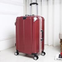 PC方向轮拉杆箱20寸24铝框挂扣行李箱环保密码登机箱杯架旅行箱包