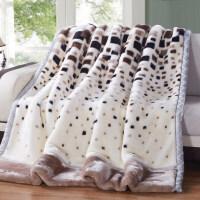 中】拉舍尔毛毯加厚双层盖毯珊瑚绒保暖冬季宿舍单人双人毯子 200X230cm 10斤双层加厚