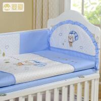 婴爱婴儿床围四季通用八件套可拆洗宝宝床品床围婴儿床上用品套件a363