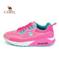 骆驼牌运动鞋女款防滑耐磨跑鞋 减震透气飞织女士跑步鞋
