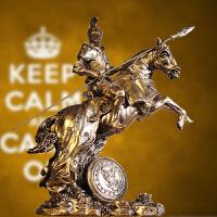 中世纪武士盔甲模型复古罗马铠甲勇士创意酒吧摆件工艺品骑士战马
