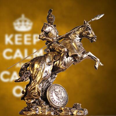 中世纪武士盔甲模型复古罗马铠甲勇士创意酒吧摆件工艺品骑士战马 发货周期:一般在付款后2-90天左右发货,具体发货时间请以与客服协商的时间为准