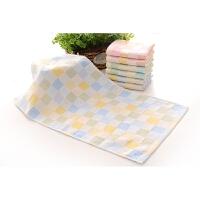 《6条装》纯棉双层纱布儿童小毛巾幼儿园宝宝新生儿口水巾吸汗巾
