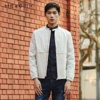 【2件2.5到手价:189】MECITY男装春季时尚立领夹克短款外套潮流休闲