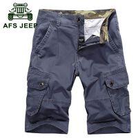 AFS JEEP夏新款工装裤男短裤吉普五分休闲裤大码多口袋沙滩裤885